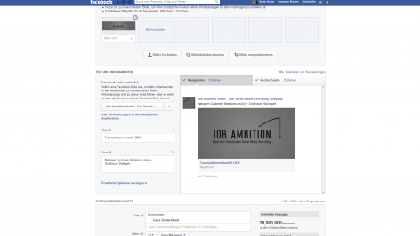 Anzeigenschaltung bei Facebook